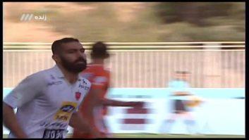گل اول تیم فوتبال پرسپولیس یه سایپا در بازی های لیگ برتر خلیج فارس 9 آبان 96