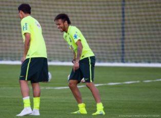 تمرینات جالب تیم ملی برزیل