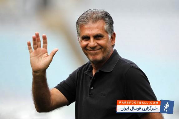 حضور کارلوس کی روش سرمربی تیم ملی در تمرین تیم فوتبال جوانان