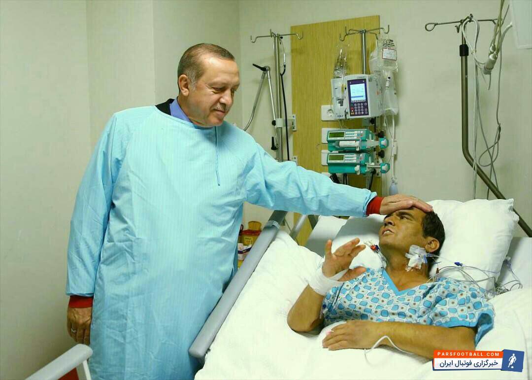 عیادت رجب طیب اردوغان رئیس جمهوری ترکیه از نعیم سلیمان اوغلو