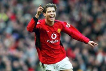 اولین گل کریستیانو رونالدو برای منچستر یونایتد