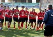مصطفی قنبری بازیکن آزاد و زیر 23 سال استقلال خوزستان امروز در تمرین پرسپولیس حاضر شد