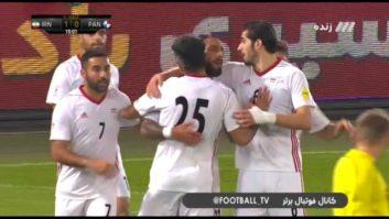 کلیپی از گل اول تیم ملی فوتبال ایران به تیم فوتبال پاناما در بازی دوستانه 18 آبان 96