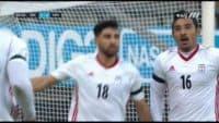 کلیپی از گل اول تیم ملی فوتبال ایران به ونزوئلا در بازی های دوستانه 22 آبان 96