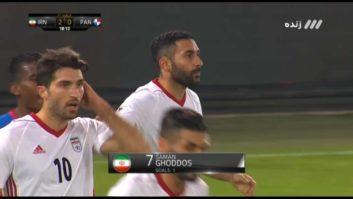 گل دوم تیم ملی ایران به پاناما