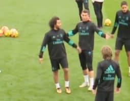 حرکات عجیب رونالدو در تمرین رئال مادرید