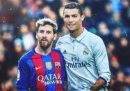 یک دقیقه با مسی و رونالدو در سال 2017
