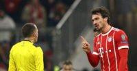 هوملس شدیدا از اول نشدن تیمش در مرحله گروهی لیگ قهرمانان اروپا، ناراحت شده است