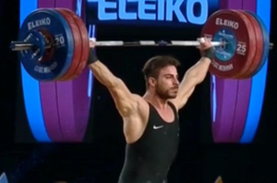 کیانوش رستمی در مسابقات وزنه برداری قهرمانی جهان مدالش را به ایتالیا و لهستان تقدیم کرد