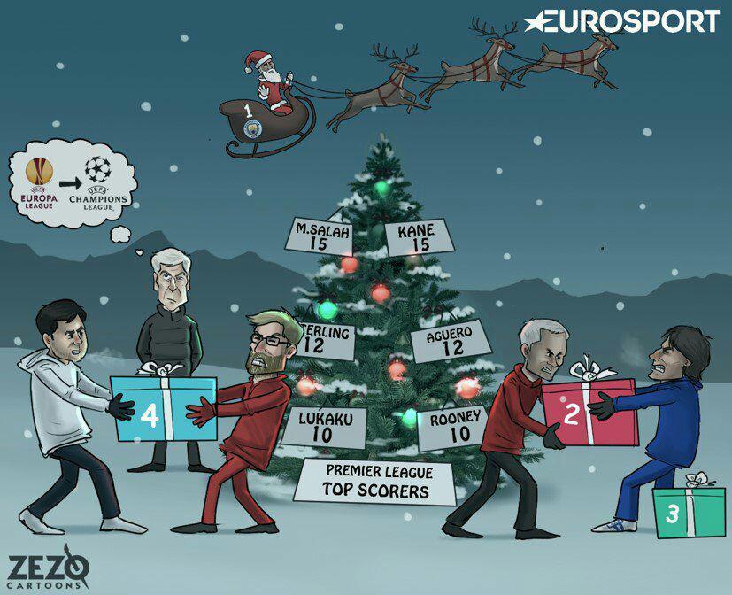 عکس ؛ کاریکاتور ؛ در ایام کریسمس در لیگ جزیره چه خبر است ؟