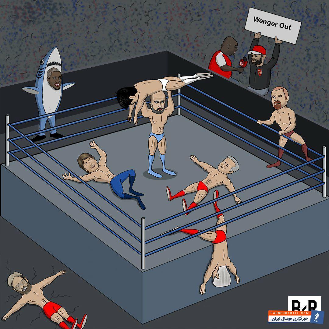 عکس ؛ کاریکاتور ؛ بلایی که گواردیولا بر سر لیگ جزیره آورده است !