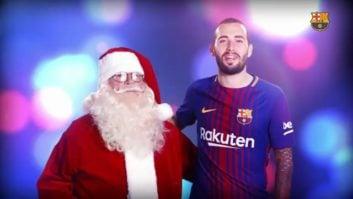 پیام تبریک بازیکنان بارسلونا به مناسبت کریسمس !
