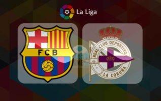 خلاصه بازی بارسلونا و دیپورتیوو لاکرونیا