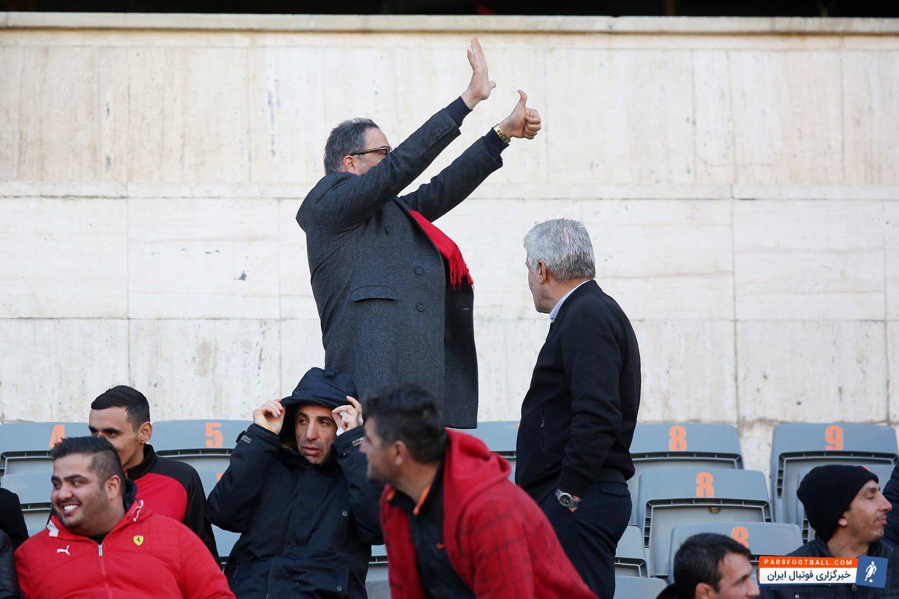 """عکس ؛ محبوبیت جالب توجه """" پرسپولیسیِ متعصب """" در ورزشگاه آزادی"""