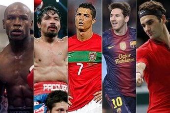 پردرآمدترین ورزشکاران سال 2017