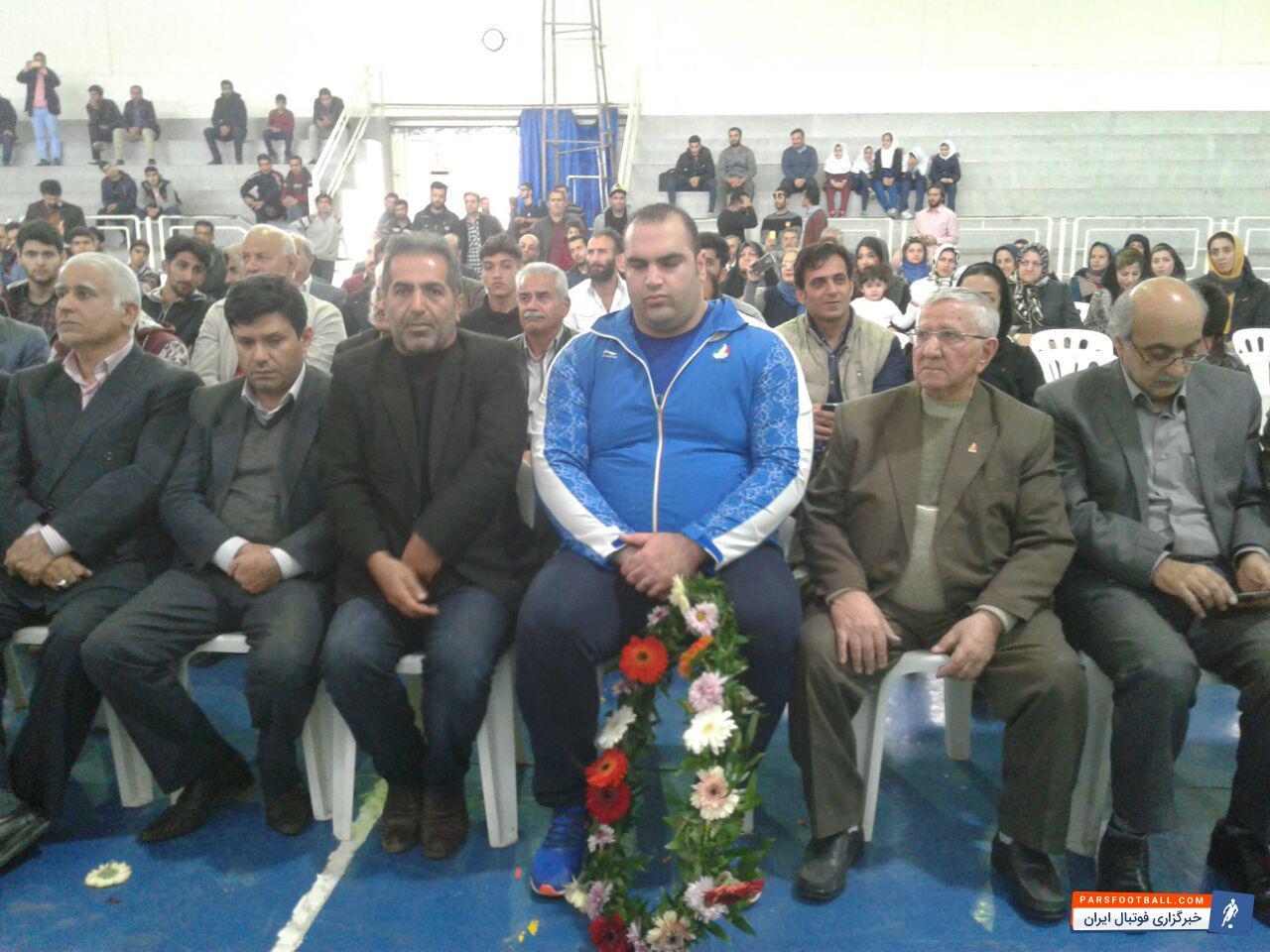 عکس ؛ مراسم استقبال بی نظیر از بهداد سلیمی در سالن تختی قائمشهر