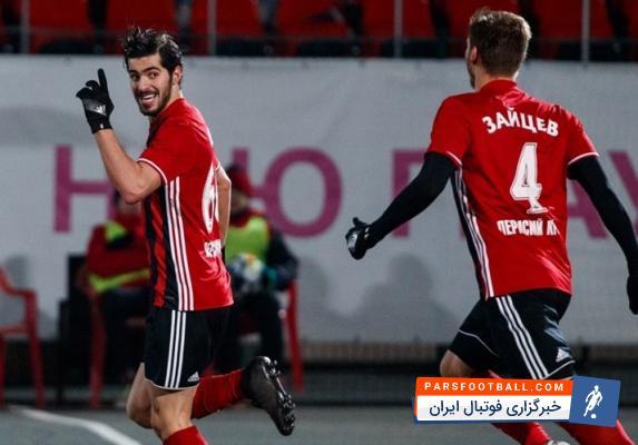 سعید عزت الهی و پاس گل حرفه ای در بازی مقابل خاباروفسک ؛ خبرگزاری فوتبال ایران