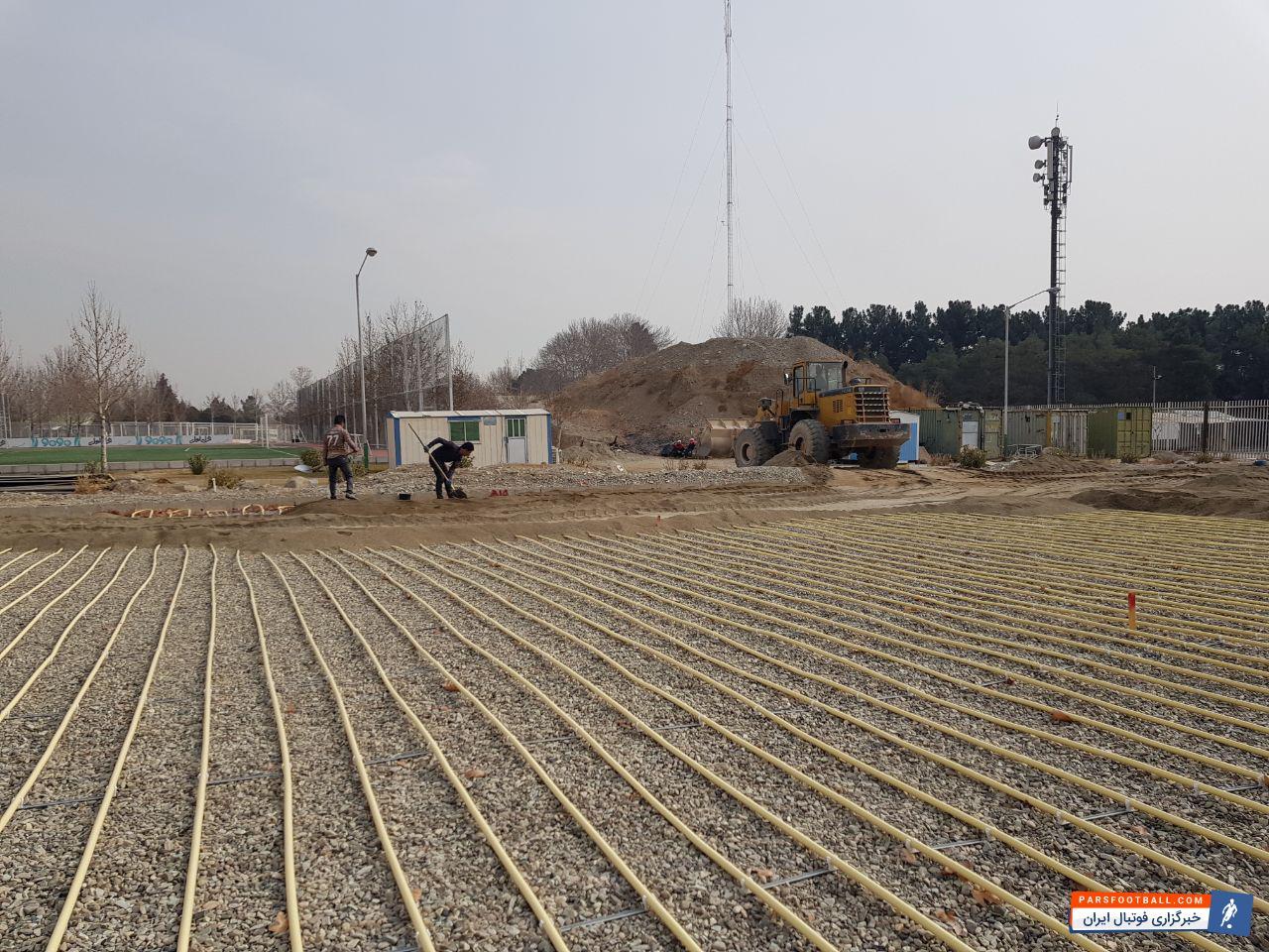عکس ؛ آمادسازی زمین تیم ملی تا پایان سال ۹۶
