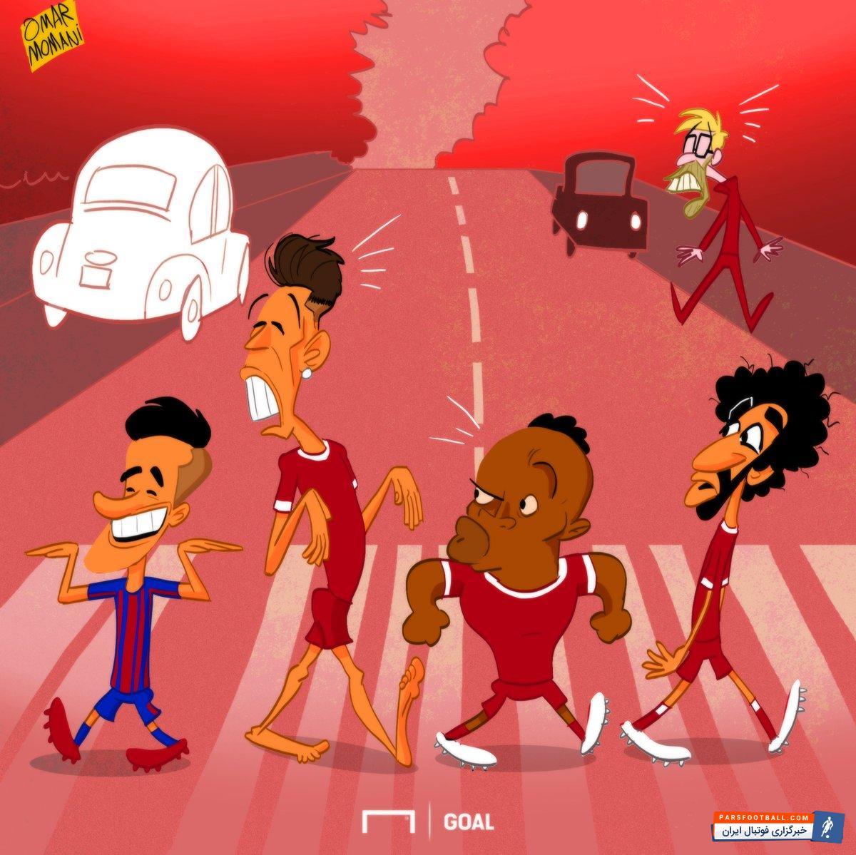 عکس ؛ کاریکاتور ؛ ستاره لیورپول سرانجام به بارسلونا پیوست !