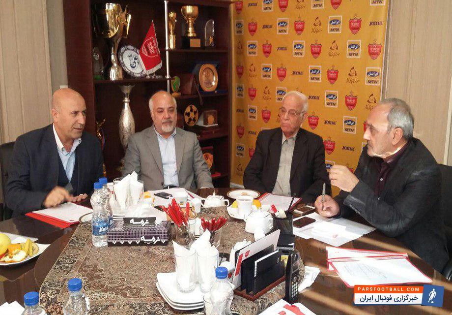 عکس ؛ جلسه اعضای هیئت مدیره پرسپولیس در استادیوم شهید کاظمی