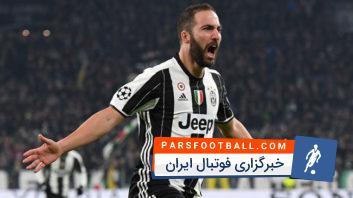 گل های ایگواین مهاجم تیم فوتبال یوونتوس ایتالیا در فصل 2017/2018