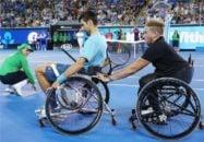 « نواک جوکوویچ » به طور نمادین تنیس با ویلچر بازی کرد