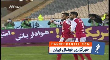 گل اول تیم فوتبال پرسپولیس به استقلال خوزستان