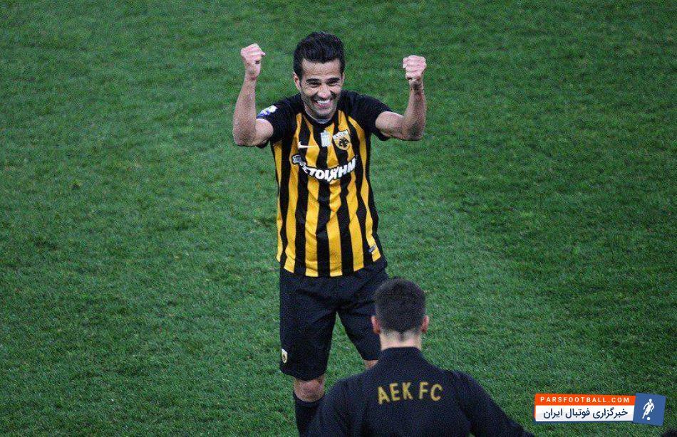 عکس ؛ شادی بعد از برد شجاعی در AEK