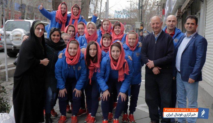 تیم ملی بانوان روسیه علاقمند به حجاب اسلامی ؛ رضایت کوزمین از پوشش حجاب!