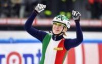 قهرمانی آریانا فونتانا اسکیت باز ایتالیایی در فینال اسکیت ٥٠٠ متر زنان در المپیک زمستانی 2018