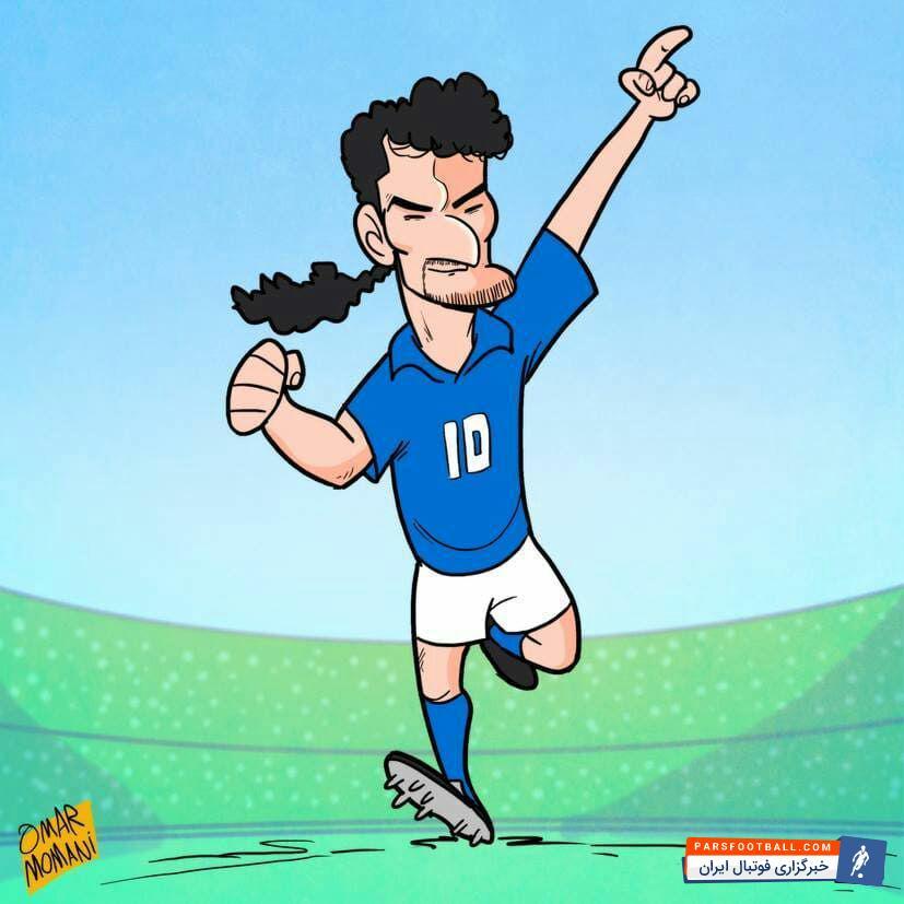 عکس ؛ کاریکاتور ؛ به مناسبت ۵۱ سالگی دم اسبی فوتبال جهان