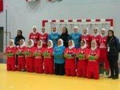 تیم شهید چمران لارستان نماینده هندبال زنان ایران در رقابتهای غرب آسیا قهرمان شد