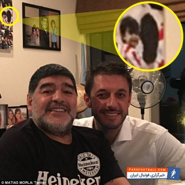 عکس ؛ دشمنی مارادونا با آگوئرو تمامی ندارد ؛ نفرت مارادونا  از داماد سابق