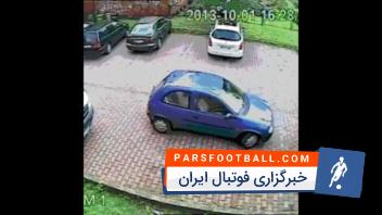 کلیپ جالب از تلاش یک راننده برای خارج کردن اتومبیلش از پارک