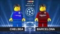شبیه سازی بازی چلسی و بارسلونا