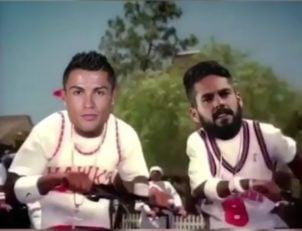 کلیپی طنز از تفریح بازیکنان رئال مادرید پس از شکست دادن پاری سن ژرمن در لیگ قهرمانان اروپا