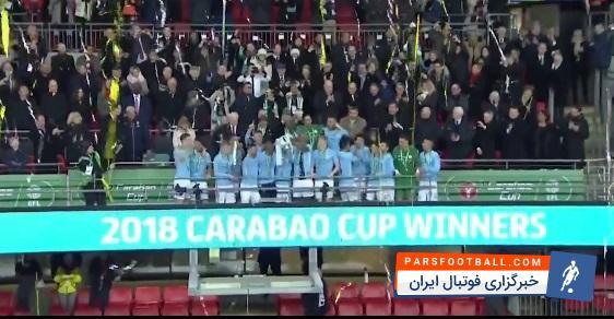 مراسم اهدای جام قهرمانی رقابت های اتحادیه انگلیس به منچسترسیتی ؛ پارس فوتبال