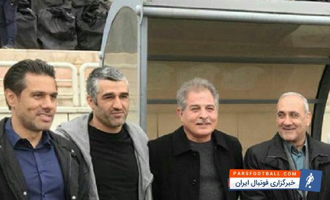 حضور پژمان جمشیدی بازیکن سابق پرسپولیس و ستاره فعلی سینما در تمرین پرسپولیس