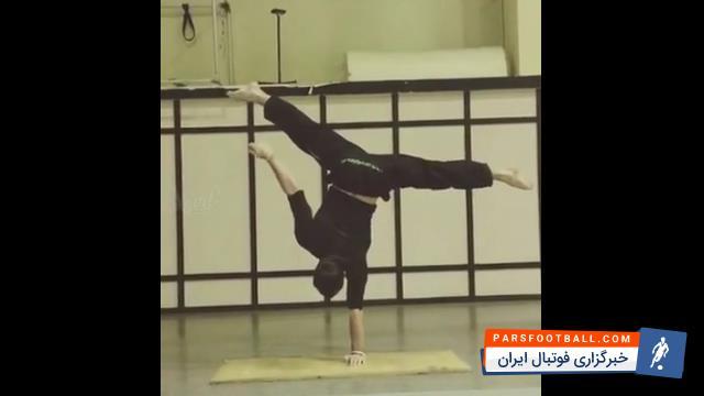 نمایش تماشایی از قدرت بدنی و تمرکز یک مرد ؛ خبرگزاری پارس فوتبال