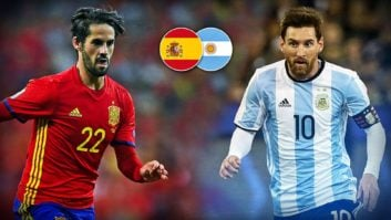 بازی دوستانه تیم ملی اسپانیا و آرژانتین
