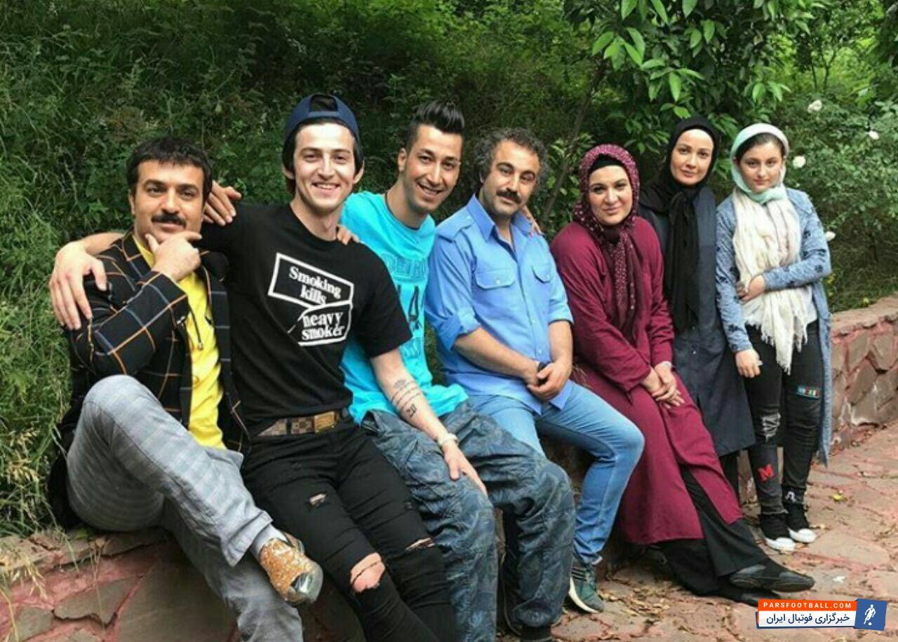 عکس ؛ تیپ جالب ستاره تیم ملی ایران در کنار بازیگران سریال پایتخت!