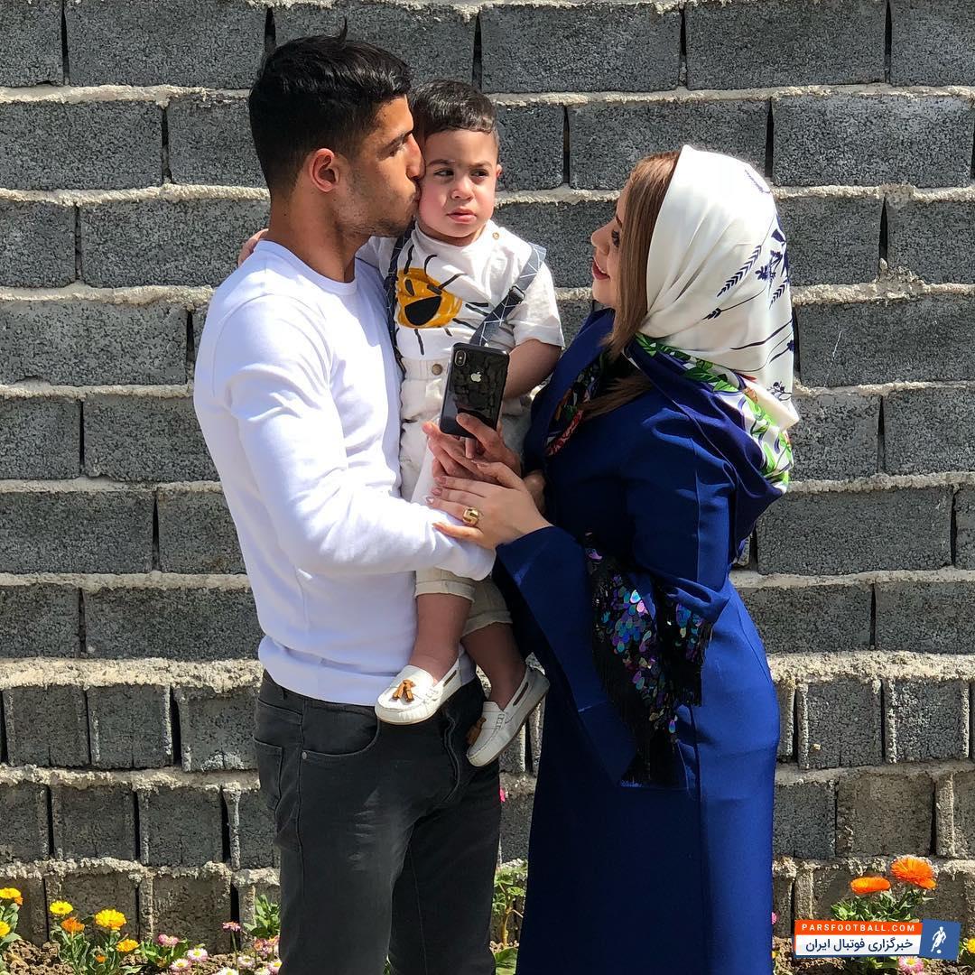 عکس ؛ تفریح جالب ستاره پرسپولیس تهران در کنار همسرش