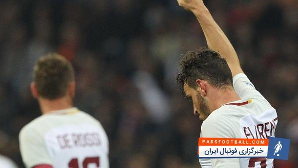 فلورنتزی بازیکن تیم فوتبال رم یک سال و نیم دیگر با این تیم قرار داد دارد