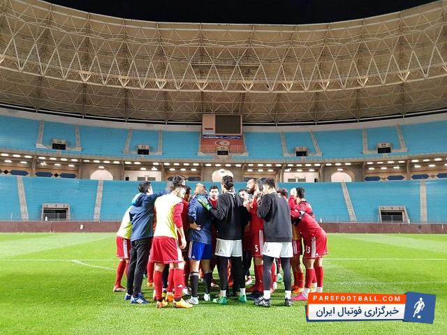 تصویری از پیمان بازیکنان تیم ملی قبل از آخرین تمرین