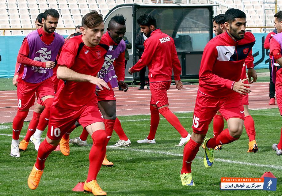 پرسپولیس و آخرین تمرین پیش از بازی مقابل الوصل امارات در لیگ قهرمانان آسیا