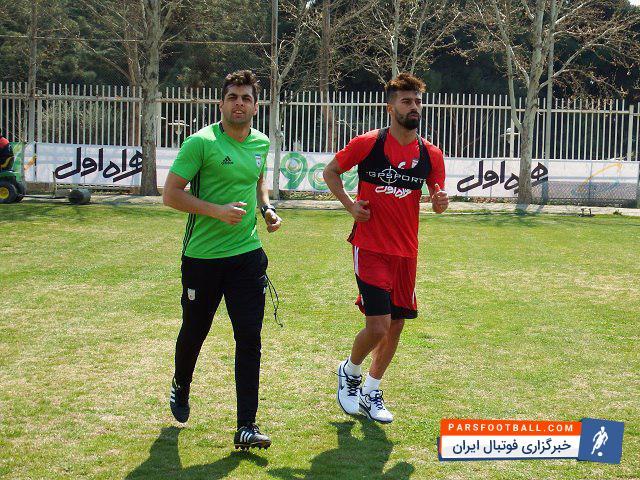 عکس ؛ رامین رضاییان برای حضور در جام جهانی آماده می شود