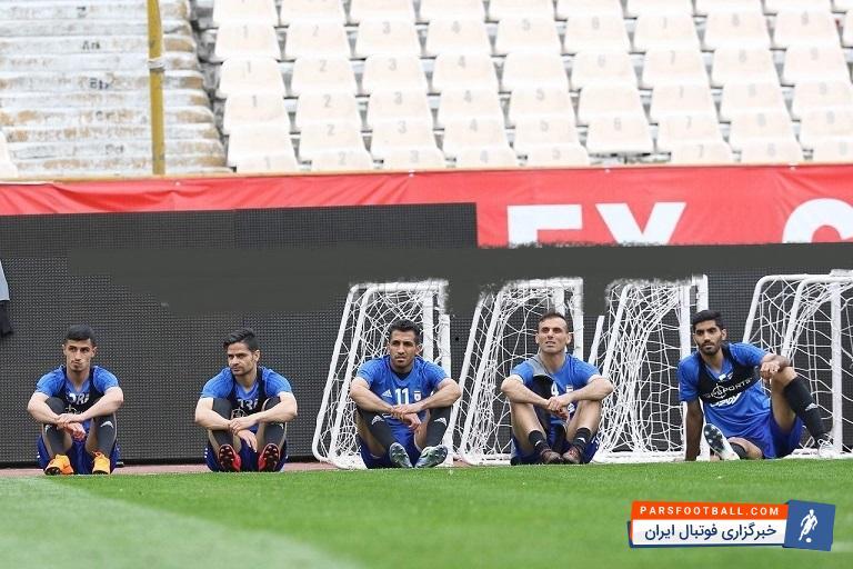 عکس ؛ جدیدترین بازیکن پرسپولیس در تمرین تیم ملی
