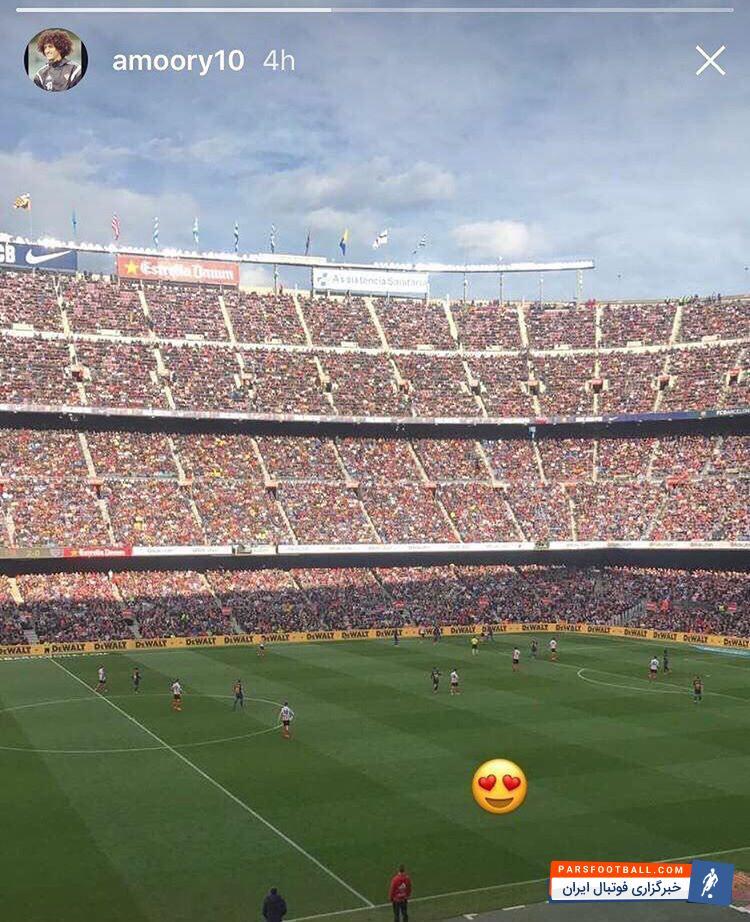 عکس ؛ قاتل استقلال تماشاگر ویژه دیدار بارسلونا و بیلبائو