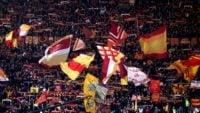 هواداران رم در لیگ قهرمانان