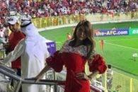 پریا عرب زاده در بازی پرسپولیس و الوصل